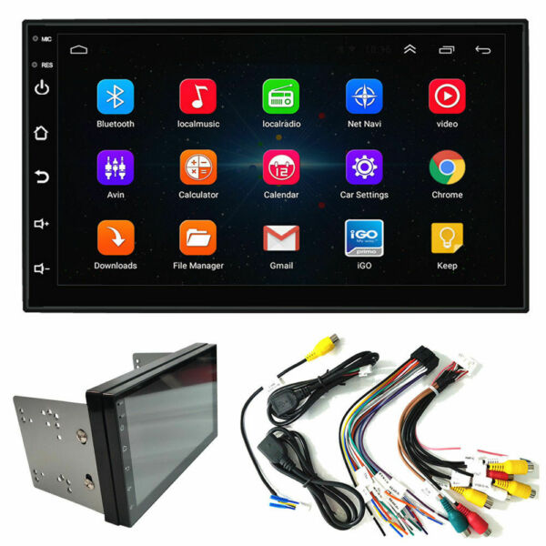 Double 2Din Android 9.1 7quot; 1080P Car pLAYER Stereo Radio GPS Wifi QUAD Core $74.83