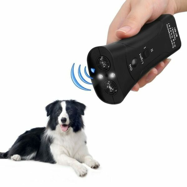 Ultrasonic Dog Chaser Stop Dogs Cats Aggressive Attacks Barking Repeller Trainer