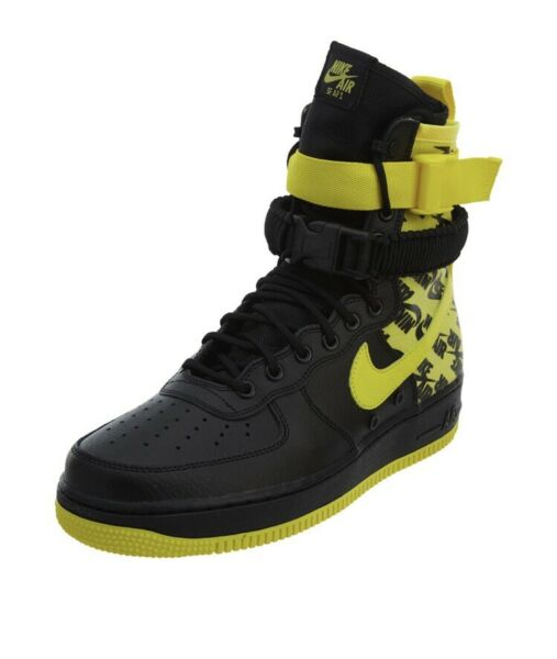 Nike Air Force 1 High SF AF1 Men's Special Field Yellow Logos AR1955-001