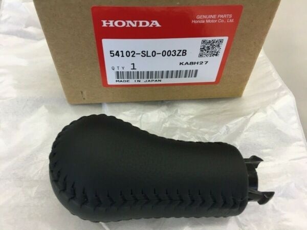 Honda 91-99 Acura NSX NA1 NA2 Genuine Shift Knob Black Leather Manual Trans FS