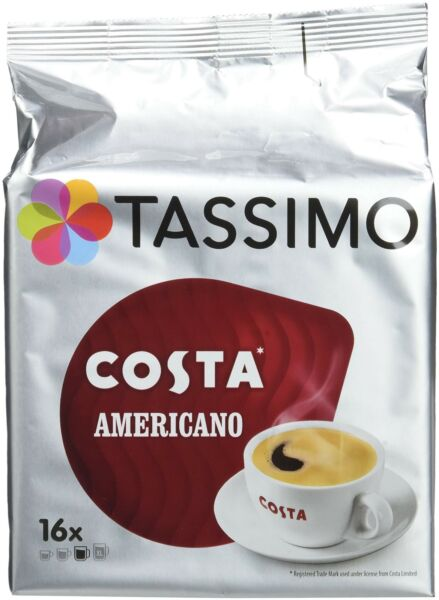 TASSIMO Costa Americano 16 T DISCs Pack of 5 Total 80 T DISCs