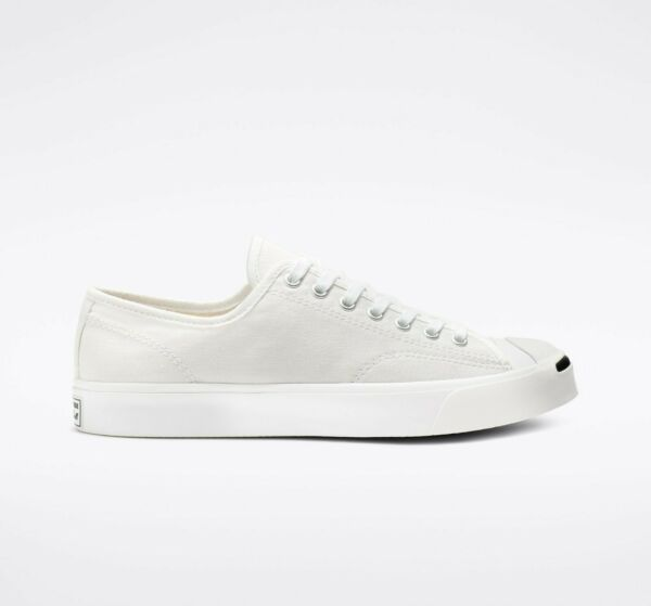 Converse Jack Purcell Low Top (Canvas) White / White 1Q698 $65