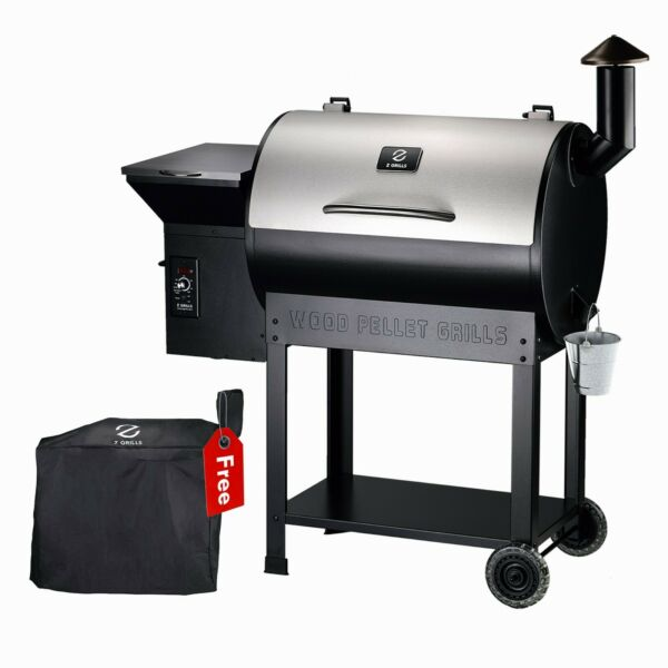 Z GRILLS ZPG 7002E Wood Pellet Grill BBQ Smoker Digital Control with Cover
