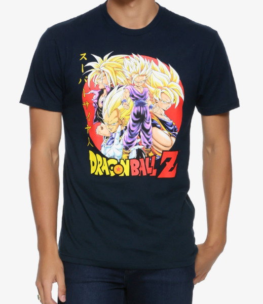 Dragon Ball Z SUPER SAIYAN T-Shirt NEW Authentic & Official