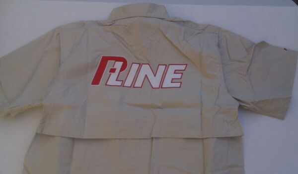 P-LINE PUCCI BUTTON UP VENTED MESH COTTON FISHING CAMPING MED M Medium Shirt