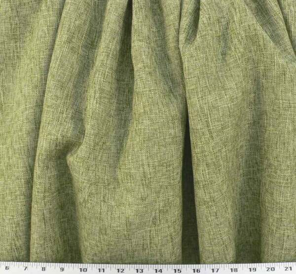 CLEARANCE FABRIC Rustic Loose Weave Burlap Textured in Natural amp; Willow Green