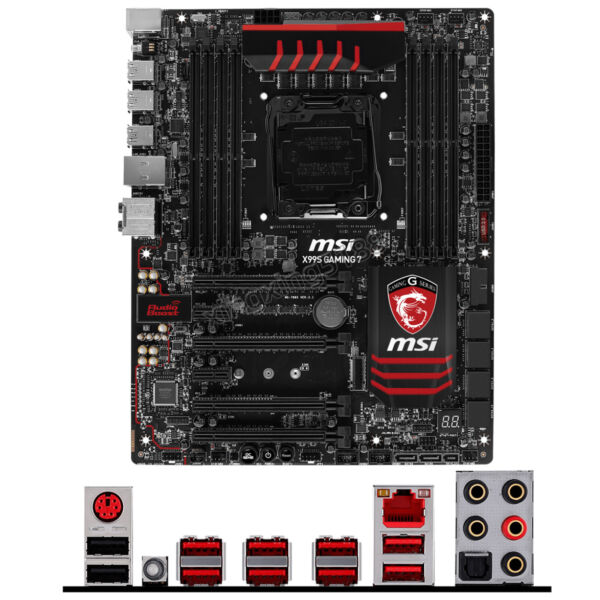 MSI X99S GAMING 7 for Intel Socket LGA 2011 3 PC ATX motherboard DDR4 Mainboard