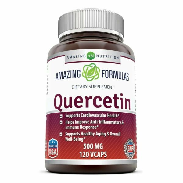 Amazing Formulas - Quercetin 500 Mg * Supports Cardiovascular Health, Helps I...