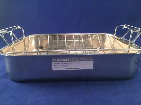 Cuisinart Stainless Steel 16quot; Roasting Pan with Rack Silver