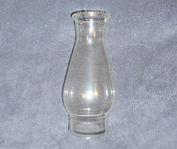 8 12 INCH BEADED TOP GLASS CHIMNEY SHADE  3 inch FITTER