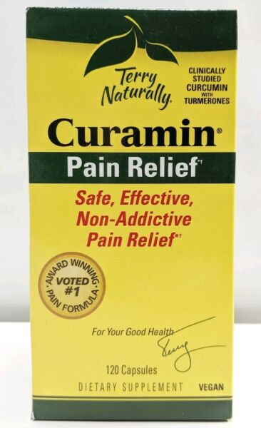 Terry Naturally Curamin Stop Pain Relief Supplement Sealed 120 Capsules