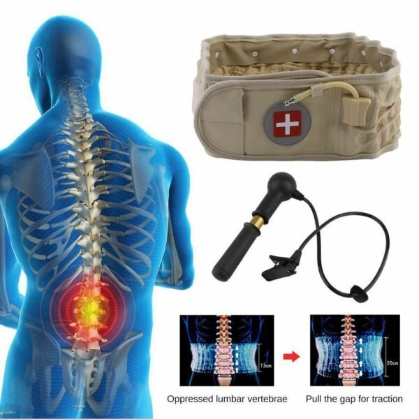 Dr.HO Decompression Traction&Extender Air Back Belt Spinal Brace Lumbar For Pain