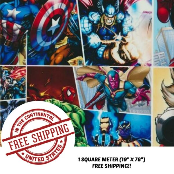 HYDROGRAPHIC WATER TRANSFER HYDRO DIP 1SQ DIPPING FILM SUPER HERO 2