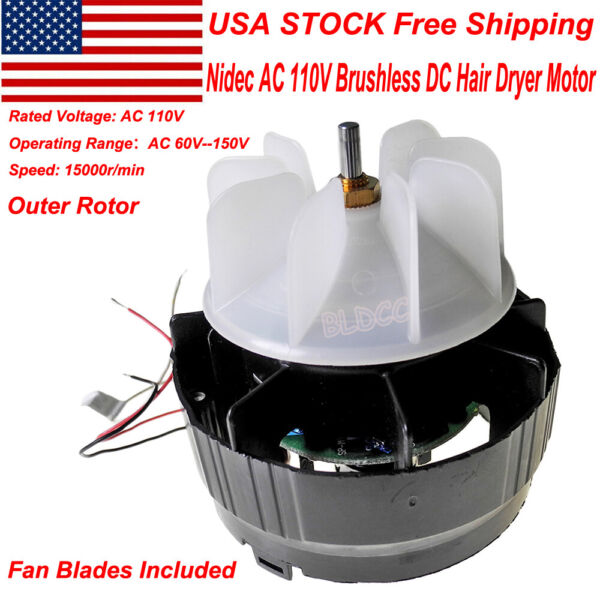 NIDEC 22H051F PWM 12V 24V Brushless DC Motor CW BLDC High Torque Built-in Driver