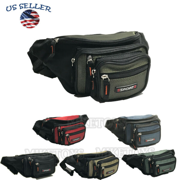 Fanny Pack Men Women Waist Belt Bag Purse Hip Pouch Travel Sport Bum Square $9.49