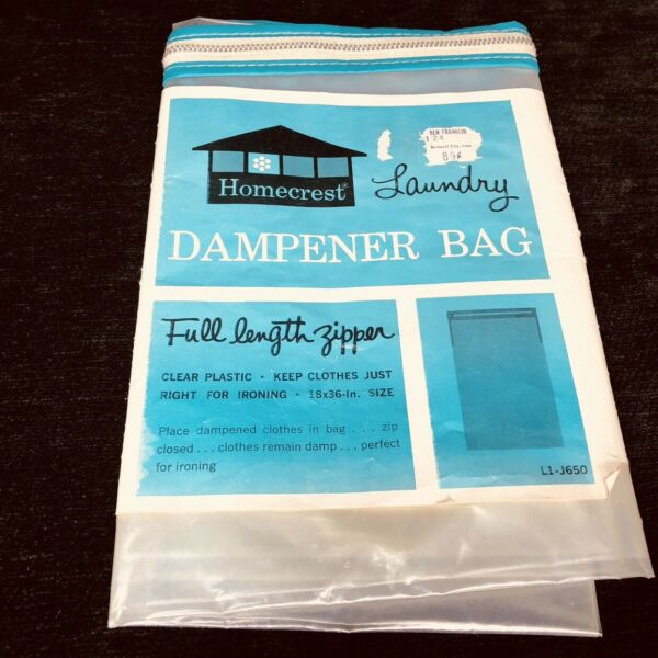 Vintage Homecrest Dampener Bag Laundry New Old Stock Original Packaging