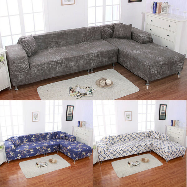 New 1 2 3 4 Sofa Cover Slipcover Couch Stretch For L Shape Sectional Corner Soft $30.99