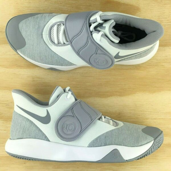 Nike KD Trey 5 VI White Wolf Grey Kevin Durant Basketball Shoes AA7067-100 Size