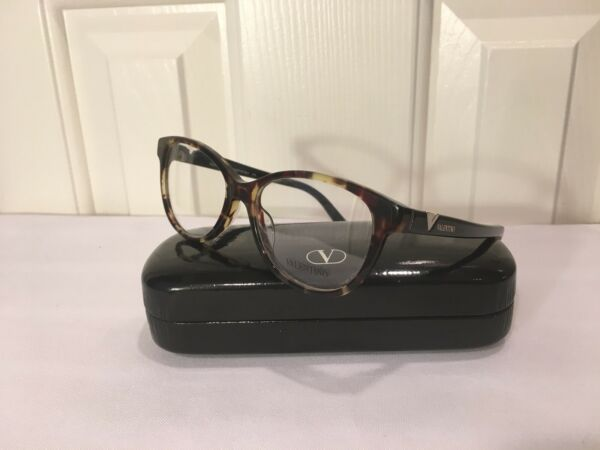 🖤 VALENTINO Tortoise Spotted Modern  Rounded Cat Shape Sty#V275 New W Defect!