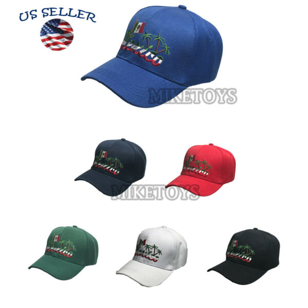 MEXICO Baseball Cap Fashion Mexican Flag Hat Adjustable Hip Hop Workout New Hats