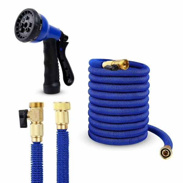 Expanding Flexible Water Hose Pipe Home Garden Hose+Spray Nozzle Watering Magic