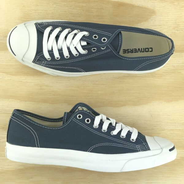 Converse Jack Purcell Signature Ox Navy Blue White Canvas Shoes 1Q811 Size 11
