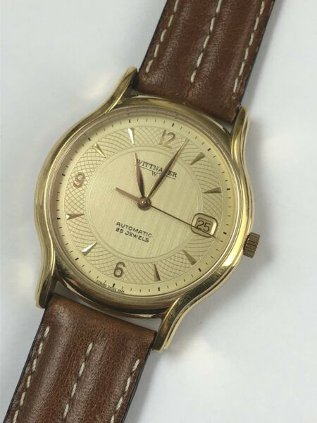 Mens Witthauer Automatic Large Mens Watch 25 Jew $250.00