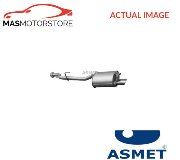 01072 ASMET EXHAUST SYSTEM REAR SILENCER I NEW OE REPLACEMENT