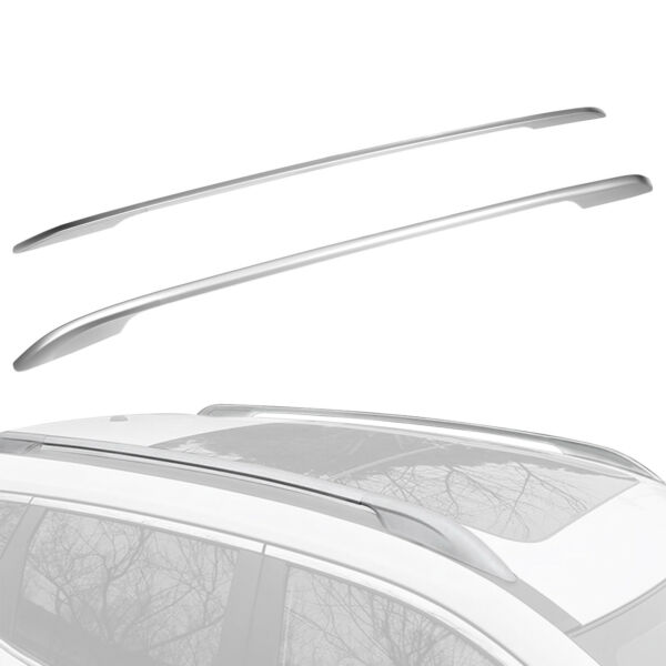 Alloy Luggage Roof Rack Side Rail Bar Set For Nissan Rogue X Trail 2014 2019 $58.91
