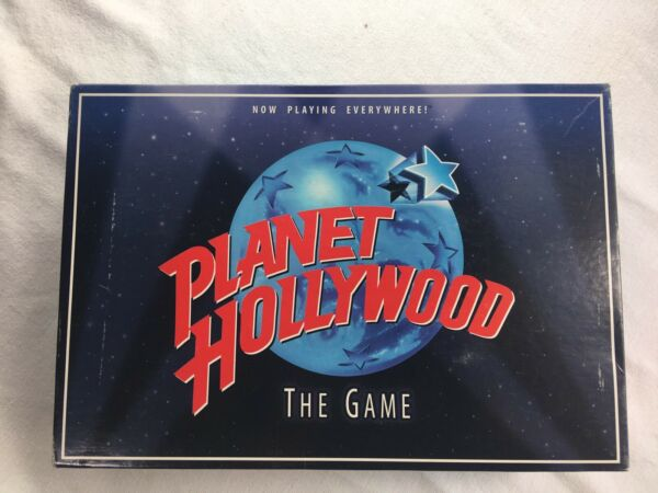 Planet Hollywood Board Game 1997 Trivia Family Night Movies Actor Milton Bradley