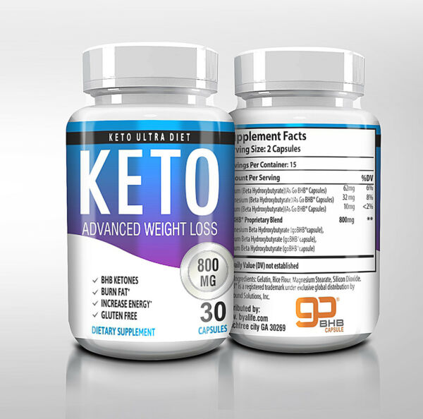 ☀ Best Keto Diet Pills 800mg Burn Fat- Advanced Ketosis Weight Loss 30 Capsules