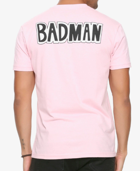Dragon Ball Z VEGETA BADMAN T-Shirt Pink NEW Authentic & Official