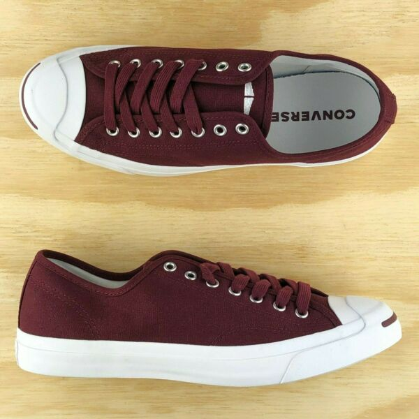 Converse Jack Purcell Signature Ox Pro Low Top Burgundy Red White 161634C Size