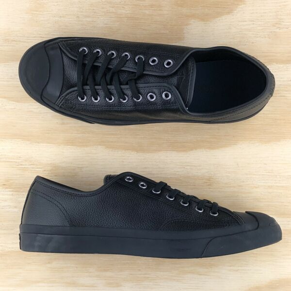 Converse Jack Purcell Signature Ox Low Top Triple Black Shoes 162596C Size 10