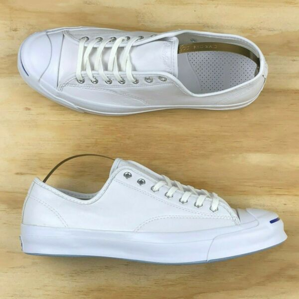 Converse Jack Purcell Signature Ox Low Top White Blue Leather 149909C Multi Size
