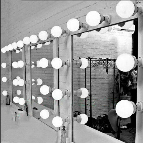 6101520pcs dressing room mirror light Hollywood plug in cosmetic makeup lamp