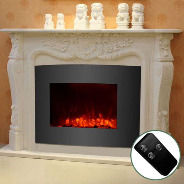 Electric Fireplace Wall Mount & Standing 1500W wRemote Adjustable Heater