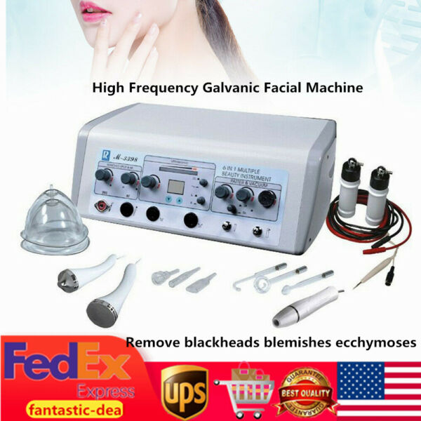 6-in-1 High Frequency Galvanic  Facial Machine Skin Spot Remover Beauty Machine