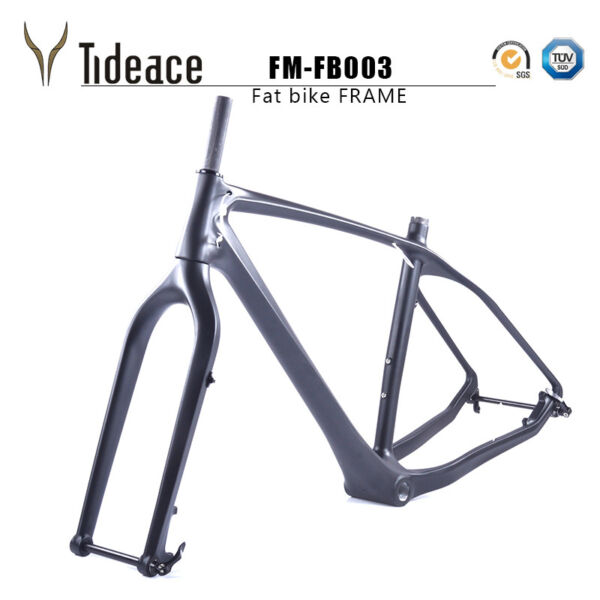 26er T1000 Carbon Fiber Fat Bicycle Frames Snow Mountain Bike Frame with Fork