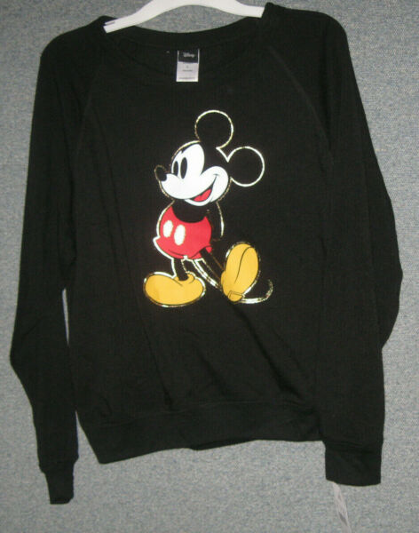 Women's Disney Mickey Mouse Graphic Light Weight Sweatshirt Large and X large