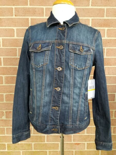 Tommy Women#x27;s Denim Blue Jean Jacket Size M New w Tags Retail Price $ 89.00 $47.49