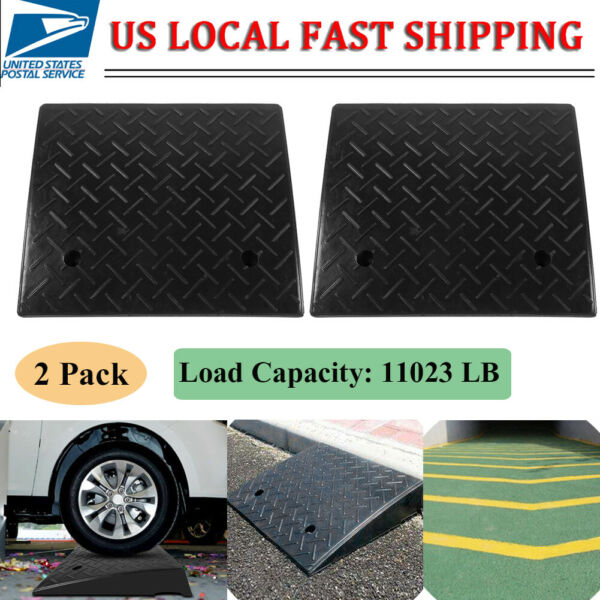 2 Pack 5 Ton Rubber Curb Ramp - 4.3