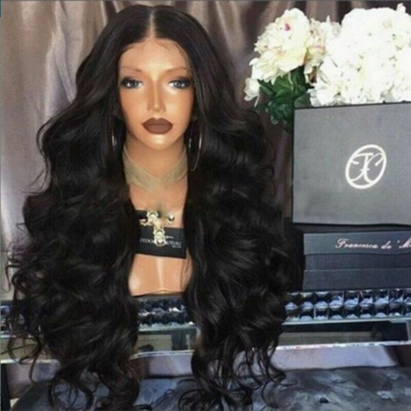 New Long Curly Wig Glueless Lace Wigs Women Remy Human Hair Lace Front Trend