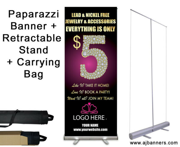 Paparazzi Banner with Retractable Stand $75.00
