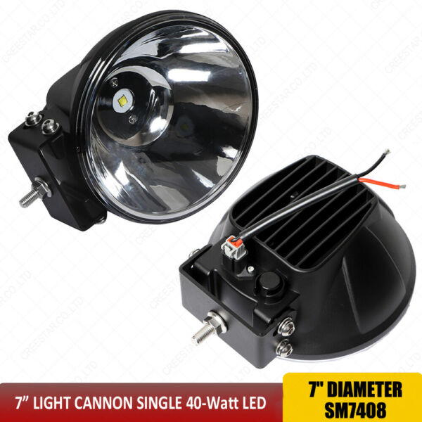 7quot; Inch 40W Round Driving Spot Lights For Bumper Roof 4x4 offroad lights x1pc $79.00