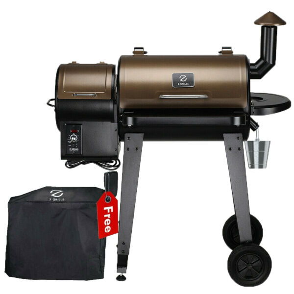Z GRILLS ZPG 450A Wood Pellet Grill BBQ Smoker Digital Control with Cover