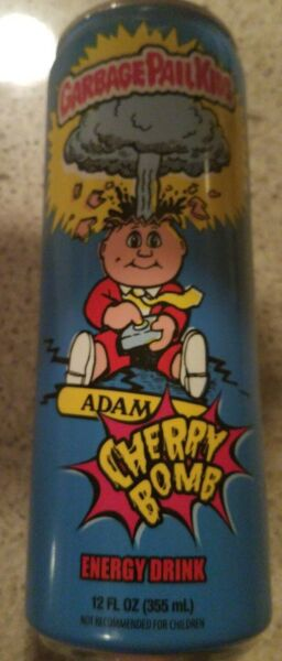 Garbage Pail Kids Adam Bomb Energy Drink Cherry Bomb EMPTY CAN!!