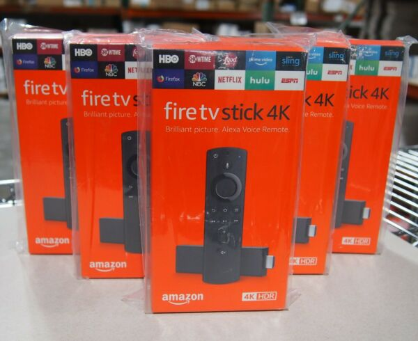 Amazon Fire TV Stick 4K with Alexa Voice Remote Streaming Media Player - Black