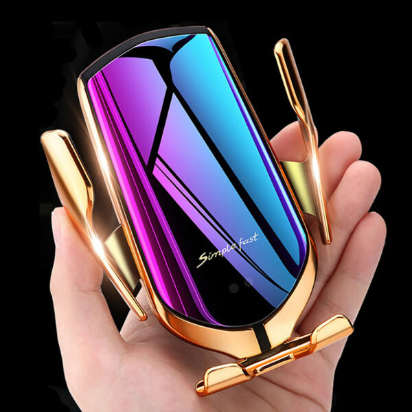 US Fast Qi Wireless Car Charger Dock Bracket For iPhone 8 XS Samsung S10 Note 10