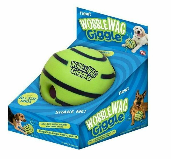 Wobble Wag Giggle Ball Dogs Fun Play Toy Indoor Outdoor Training Ball Sound Toy